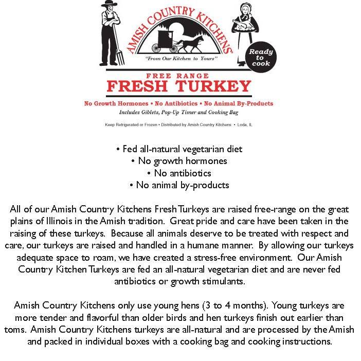 Amish Country Kitchens Turkey